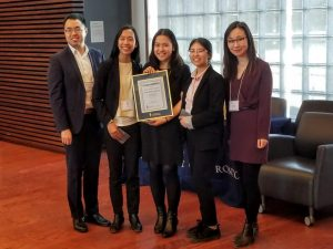 First place team in Boardroom Case Competition