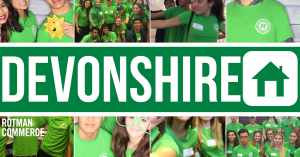 A collage of pictures of Devonshire students at House events.